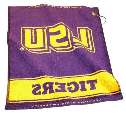 louisiana state tigers woven towel