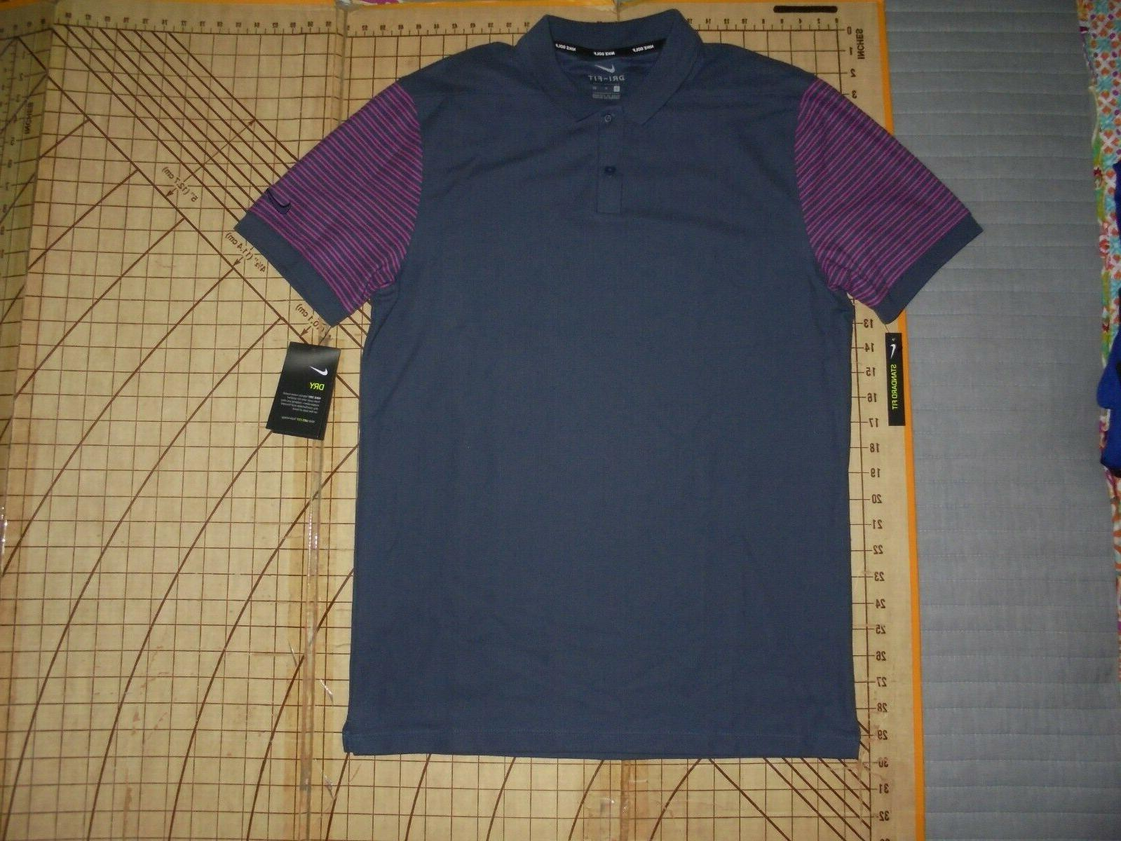 mens small gray pink accents polo shirt