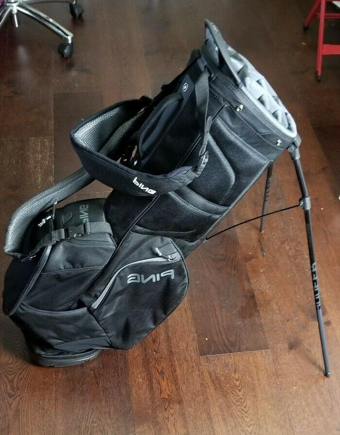 New PING 2018 Hoofer 14 Stand Golf Bag Black