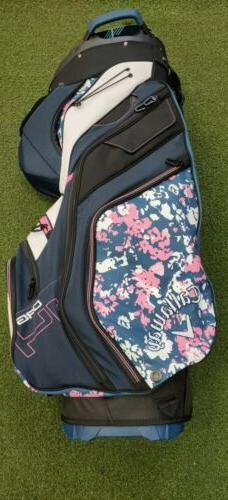 New 2019 Ladies Callaway Uptown 14-Way Golf Cart Bag Floral/