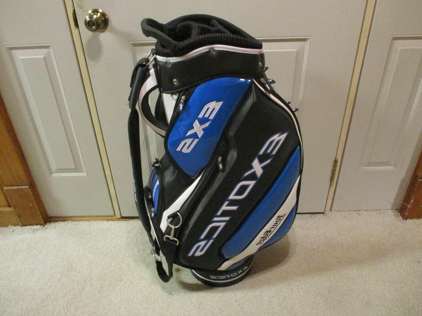 New Tour Exotics EXS Staff Golf Bag Blue