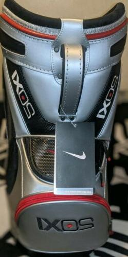 New Nike Golf 20XI Mini Range Bag / Den Caddy Silver / Red /