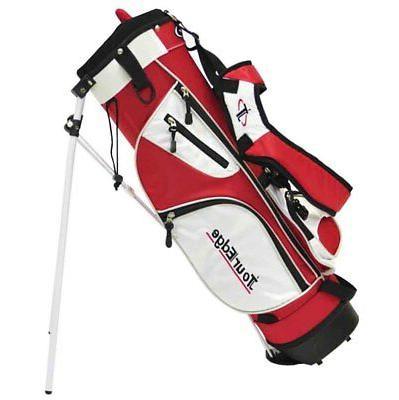 new golf junior stand carry bag red