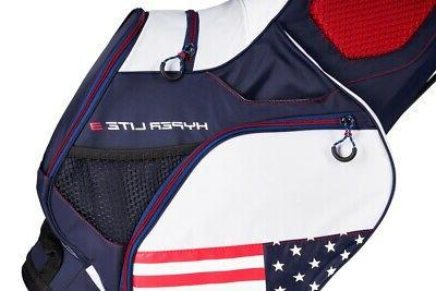 New Golf Limited Edition 3 Stand Bag Navy/Red/White