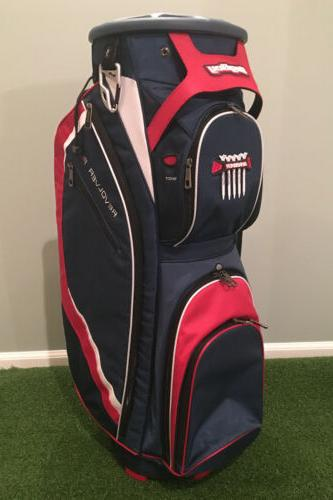 New Bag Boy Golf- Revolver FX Cart Bag Navy/Red/White