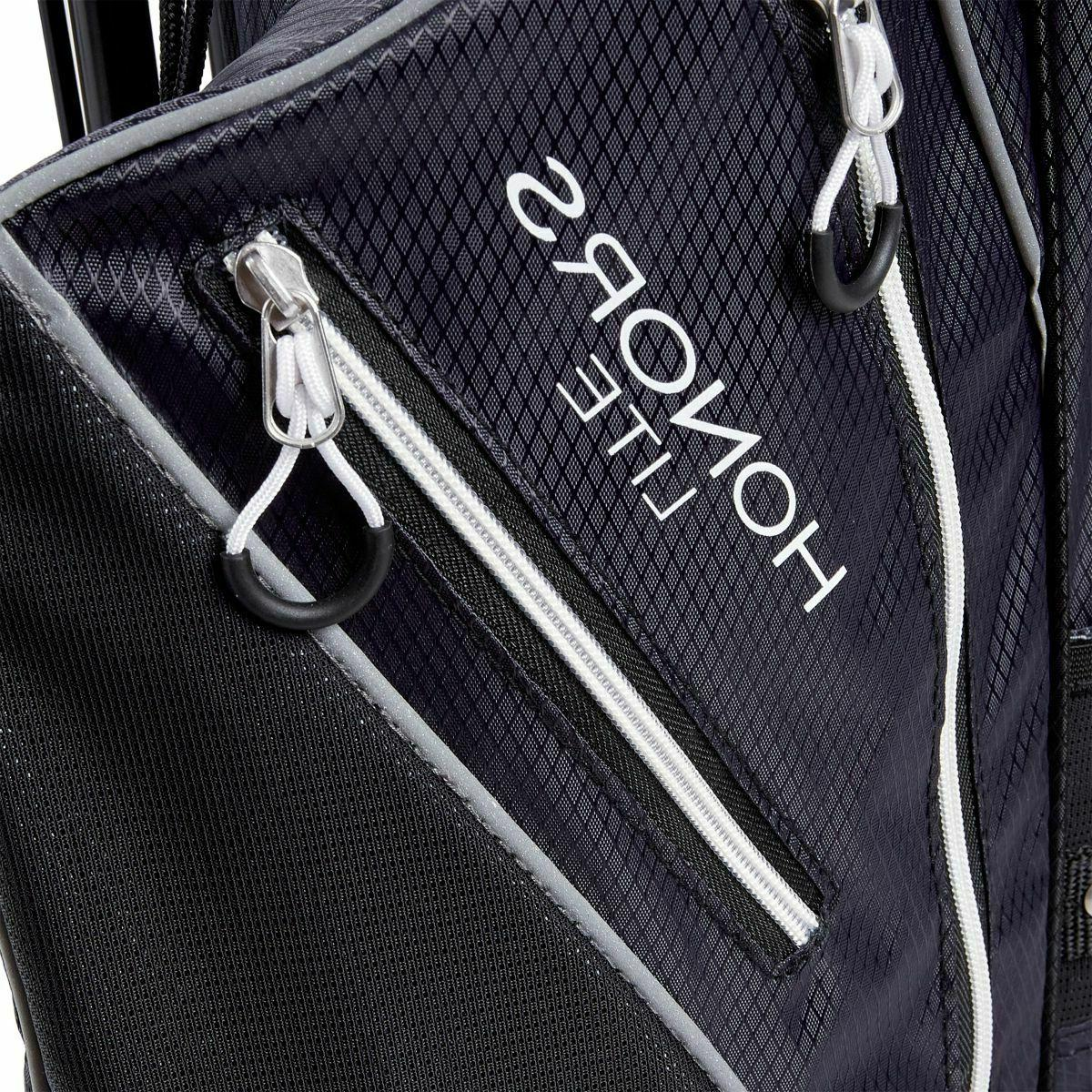 New Maxfli Golf Stand Bag 3-Way Divider Padded Black