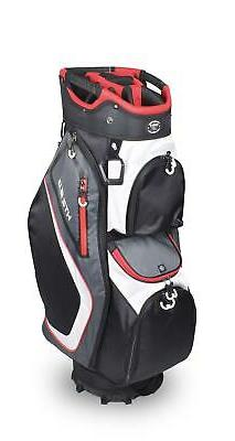 New Hot-Z Golf 2020 5.0 Golf Cart Bag Black Red Gray