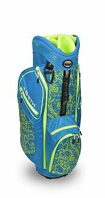 New Hot-Z Golf Ladies 2020 2.5 Lace Cart Bag Blue/Lime
