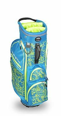 New Hot-Z Golf Ladies 3.5 Lace Cart Bag Blue/Lime
