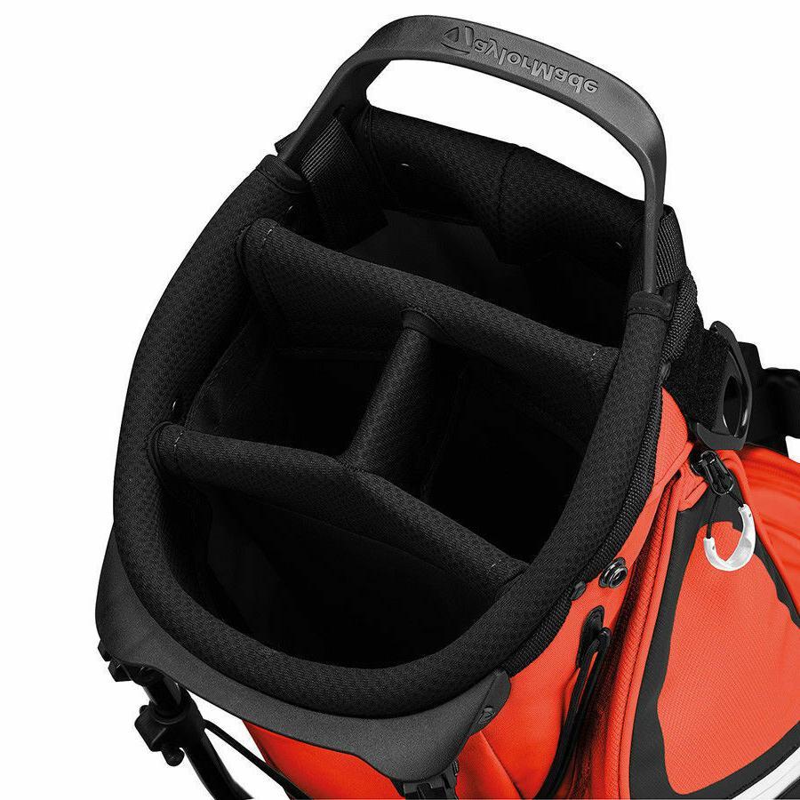 NEW TAYLORMADE STAND BAG ORANGE BLACK