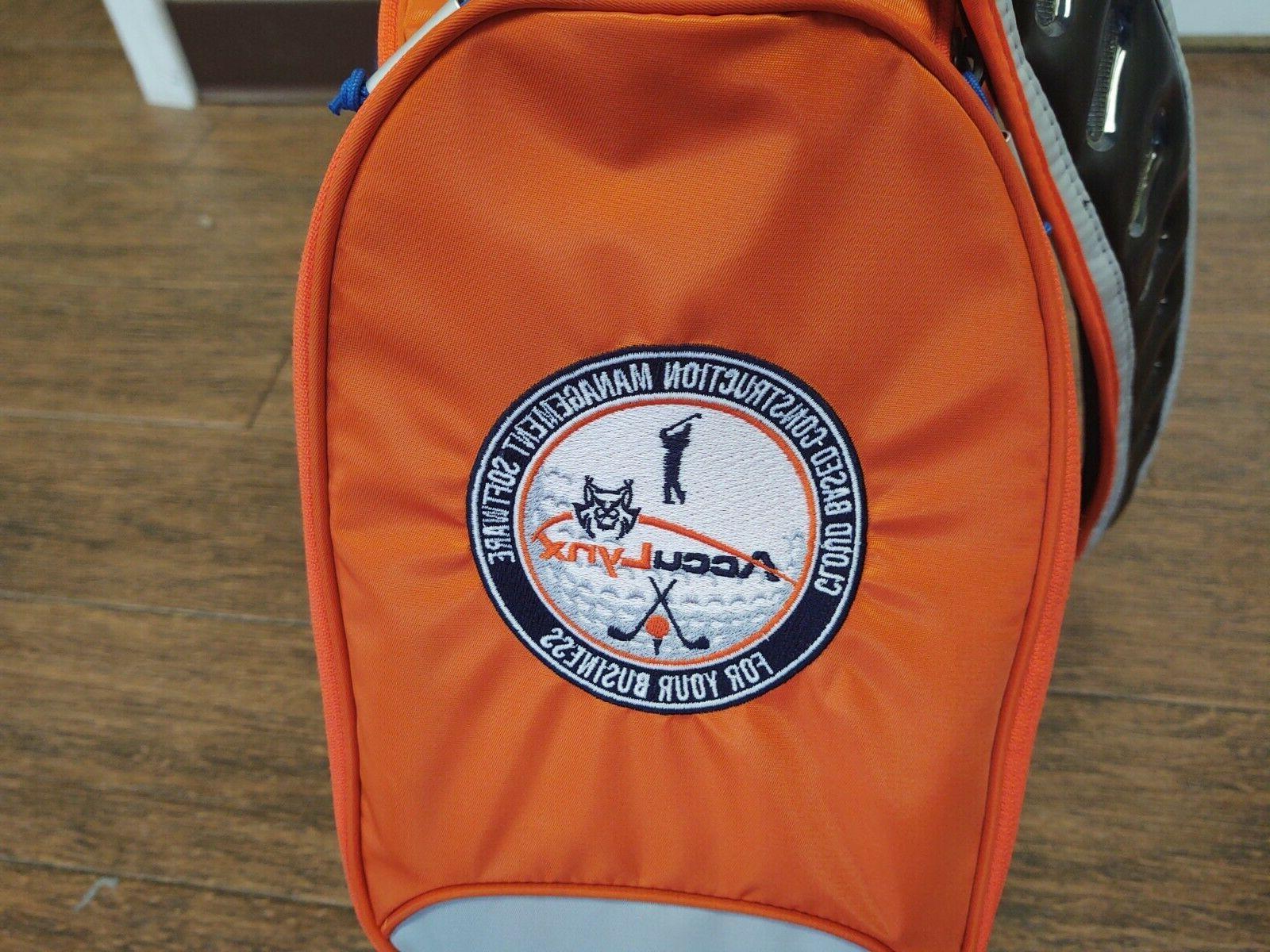 New with Vapor X Golf Bag Orange/Gray/Blue