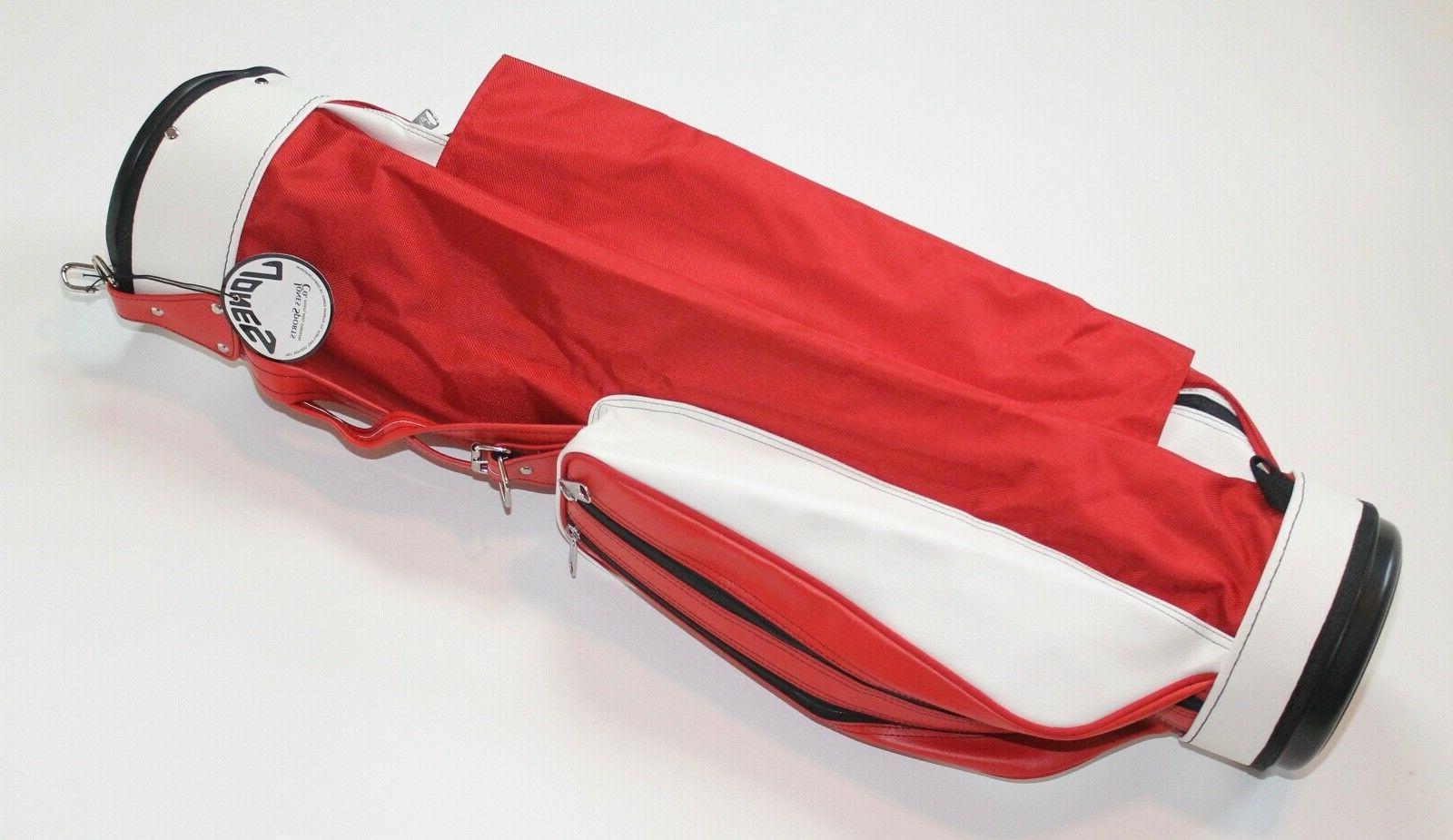 original golf single strap carry bag red