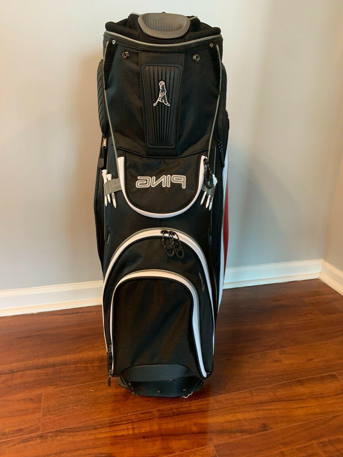 Ping Pioneer Cart Bag ~ Black, Garnet, Silver ~