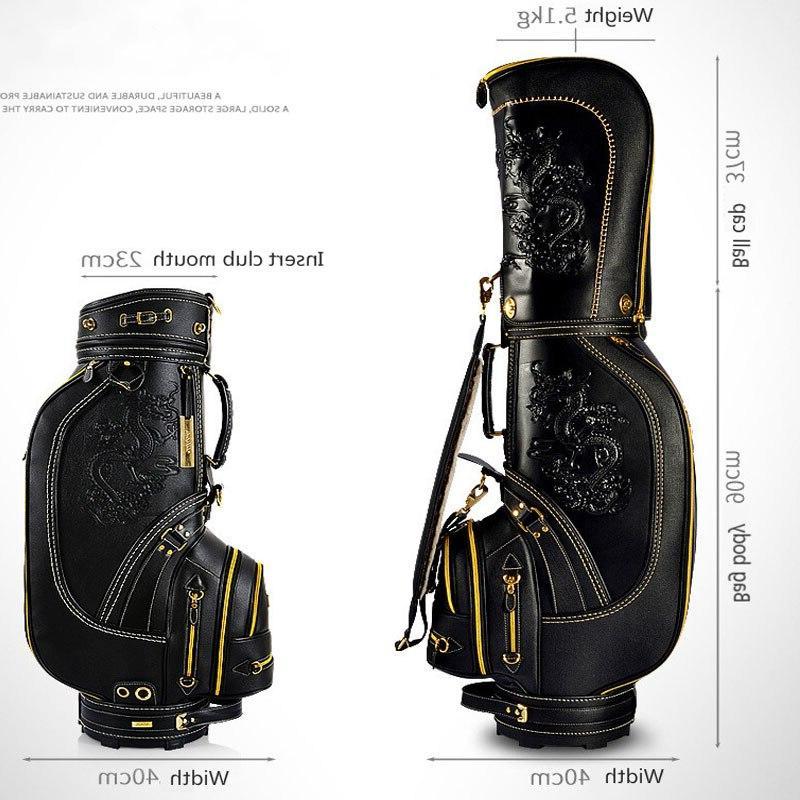 Pgm Pu Leather Dragon <font><b>Golf</b></font> Waterproof Big Sports <font><b>Bag</b></font> D0087