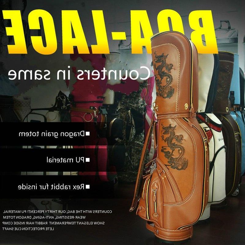 Pgm Pu Leather Dragon <font><b>Golf</b></font> <font><b>Club</b></font> Men Waterproof Big <font><b>Cart</b></font> Sports <font><b>Bag</b></font> 3 Colors D0087