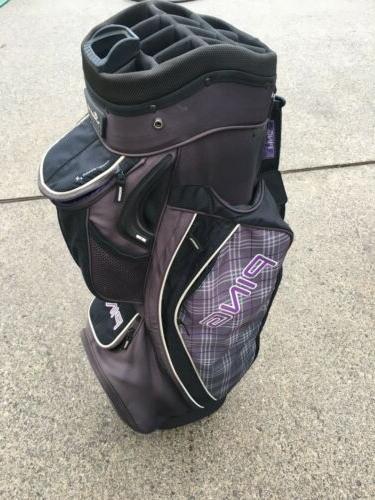serene womens cart golf bag used 14