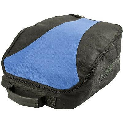 shoe and accessories storage bag black blue