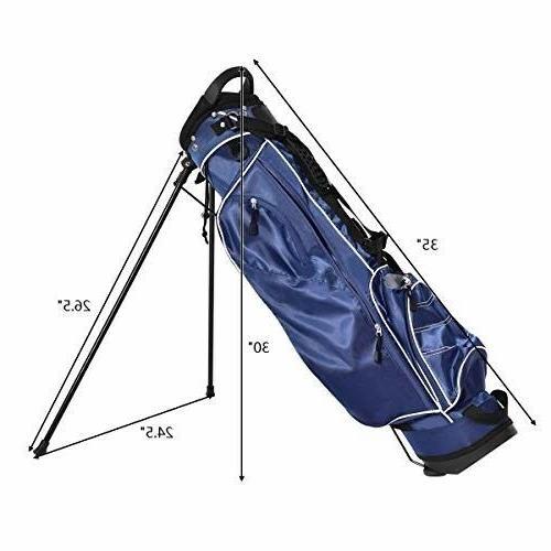 Tangkula Stand Bag Organized Golf Bag Easy Carry Shoulder Bag 3