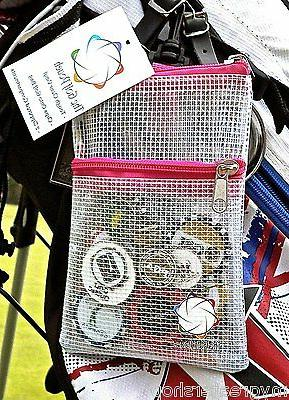 THE clear bag tees accessories. Clips to