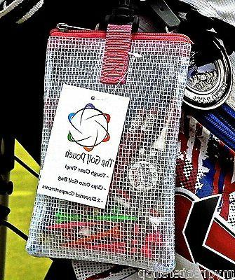 THE POUCH. Strong clear golf tees & to
