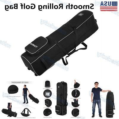 tomshoo golf bag smooth rolling travel bag
