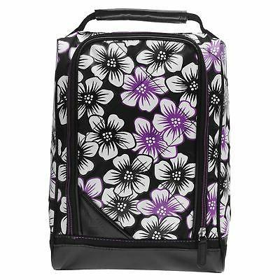 uptown floral golf shoe bag black white