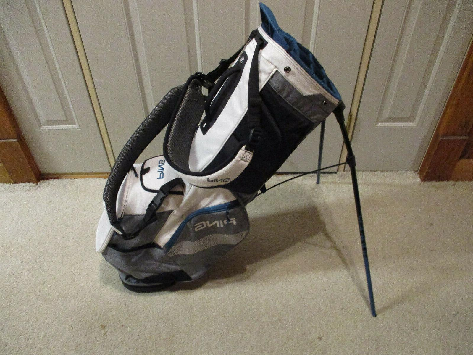 Used Ping Hoofer Stand Bag White Heather Grey /