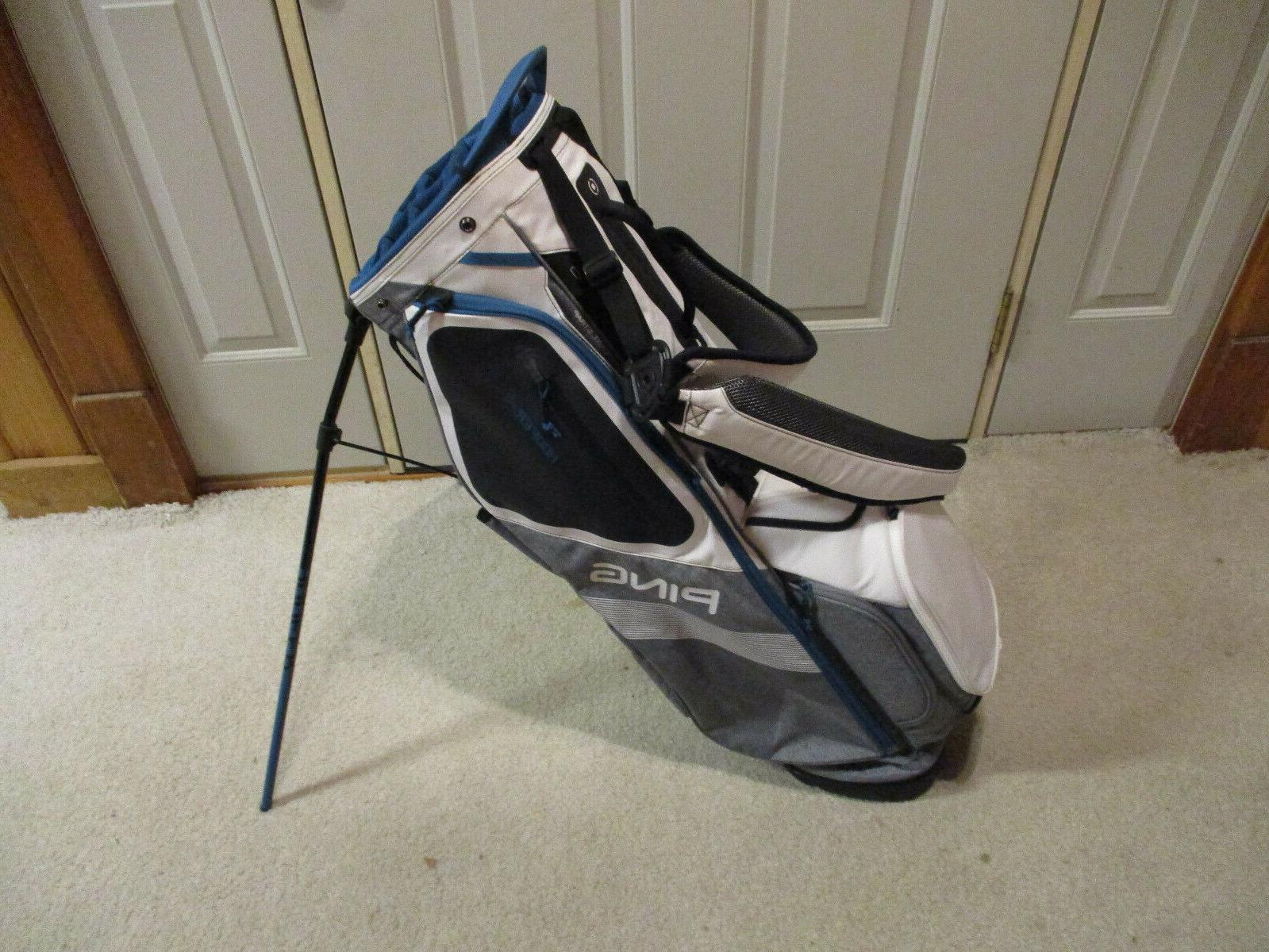 used hoofer 14 stand bag white heather