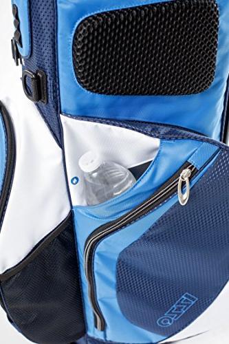 IZZO Versa Bag Black/Grey/Red - Golf Hybrid Bag, Riding Bag, Stand Stand