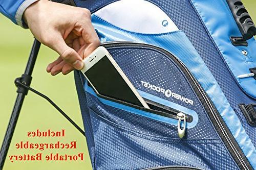 IZZO Versa Golf Bag - Black/Grey/Red - Golf Riding Hybrid Golf Bag, Golf Stand Bag - Grey Red Golf Stand Bag