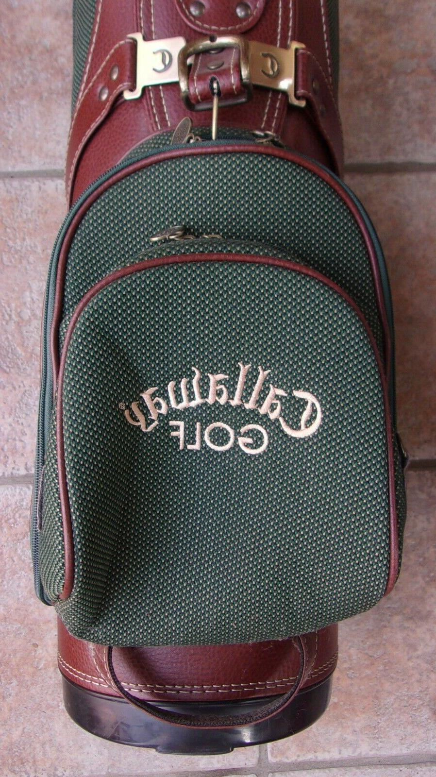 VINTAGE CALLAWAY GREEN CART BAG WITH STRAP