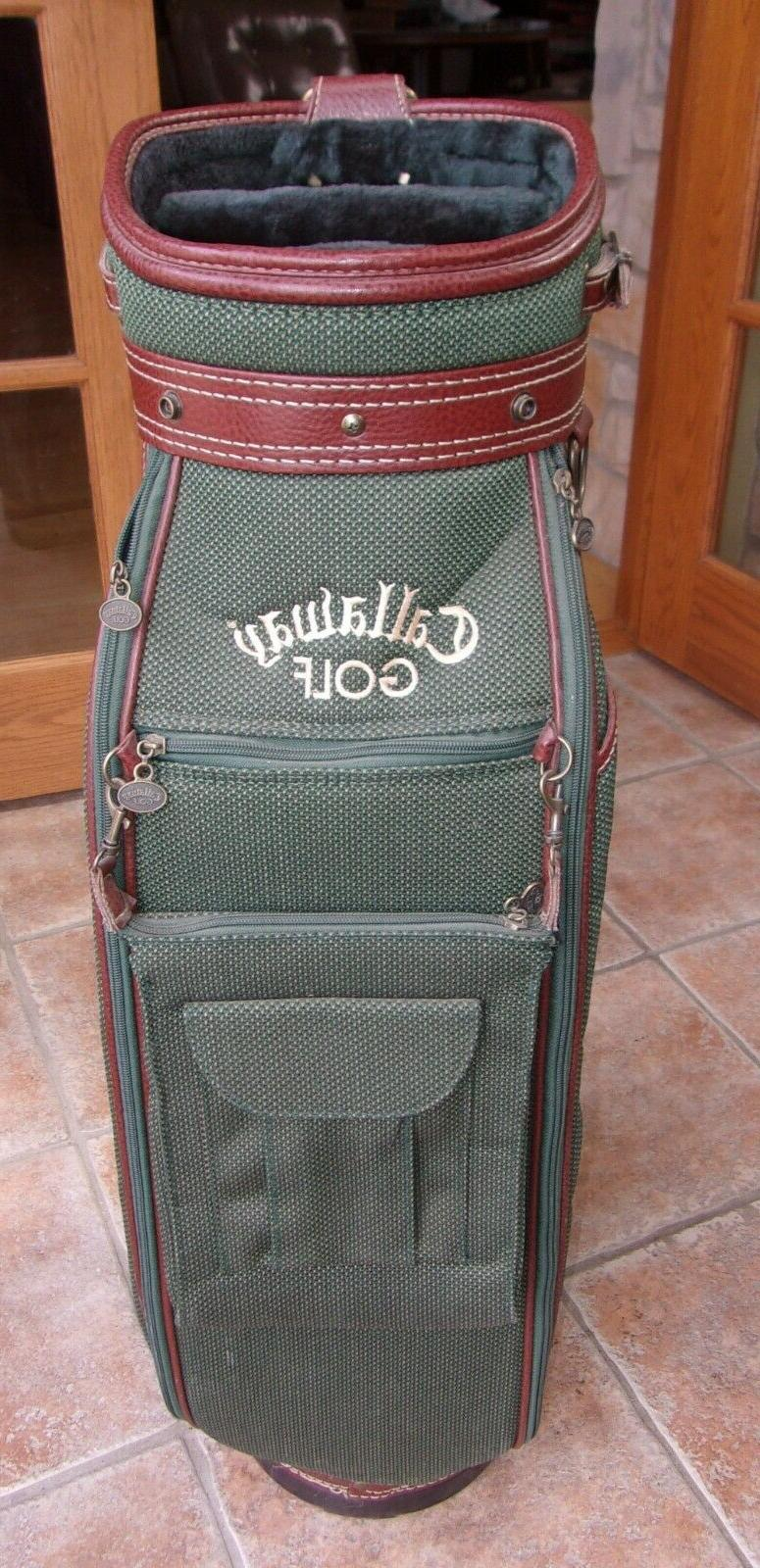 vintage green tweed cart golf bag new