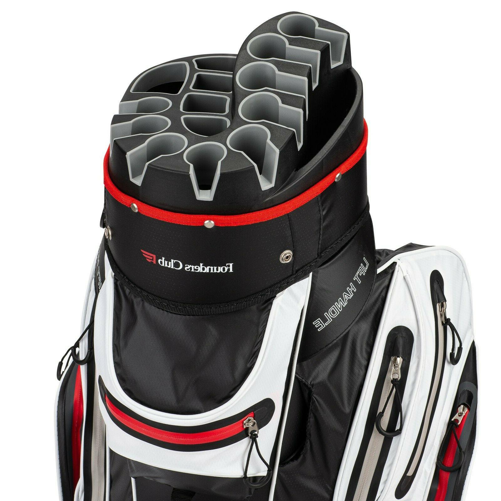 waterproof premium cart bag 14 way organizer
