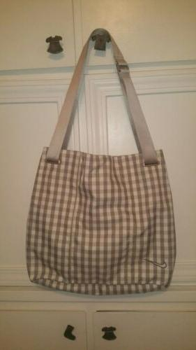 women s golf gray and white tote
