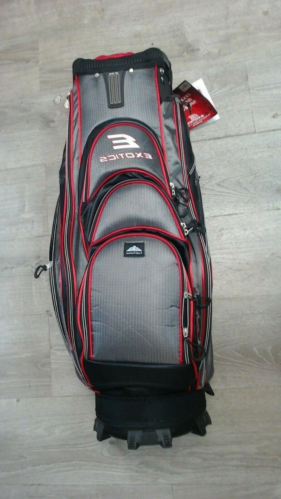 xtreme3 exotics golf cart bag red black