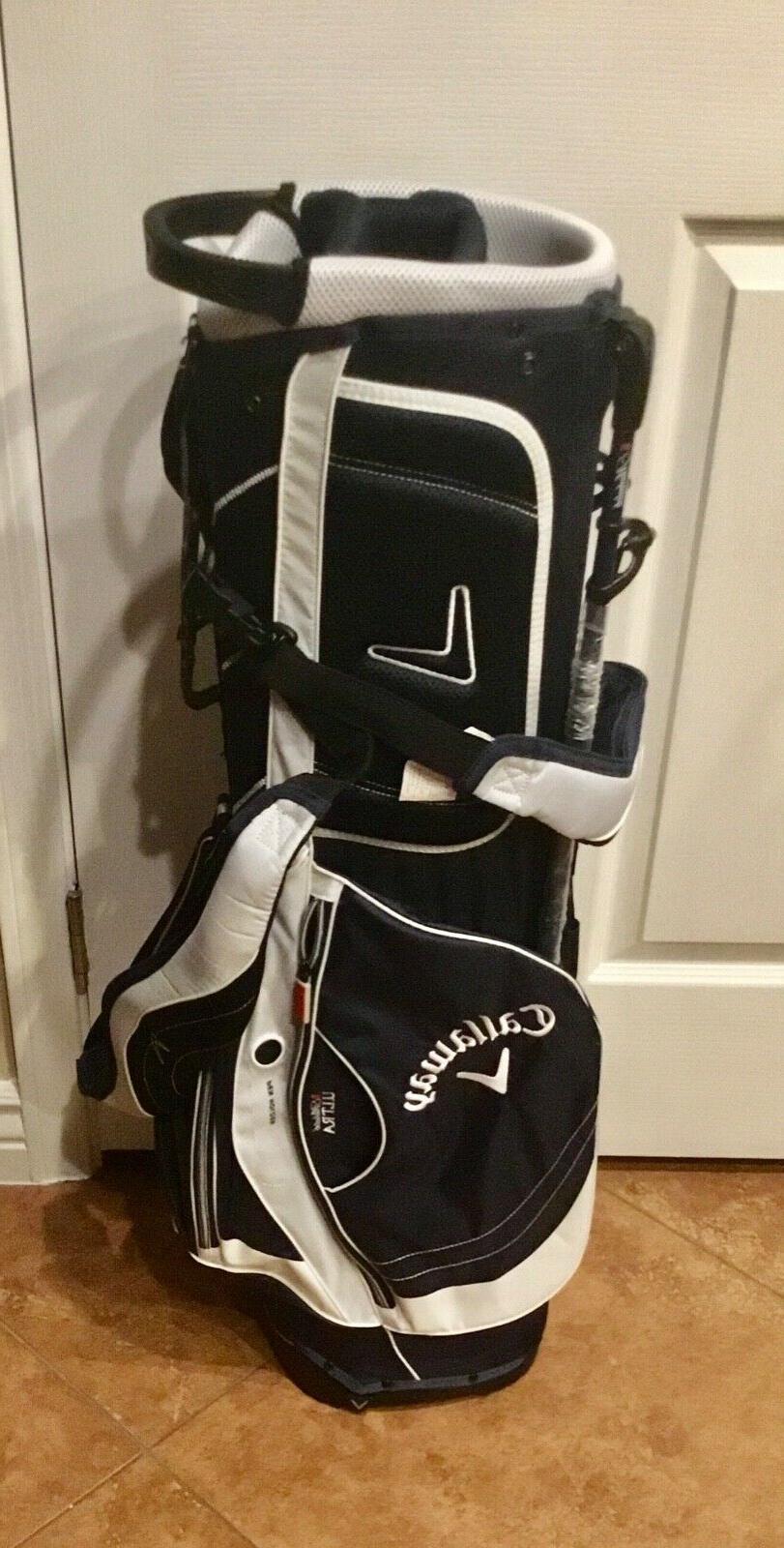 Callaway Ultra 7 Dived Golf Bag Navy Colors