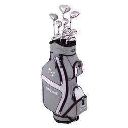 Tour Edge Lady Edge Complete Golf Set Silver/Purple w/Bag RH