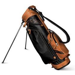 Sun Mountain Leather Stand Bag - Black/Tan