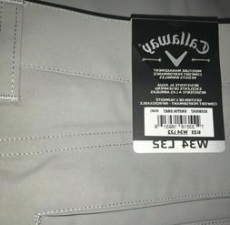 Men's Callaway Golf Pants 34x32 Griffin Gray Bagged