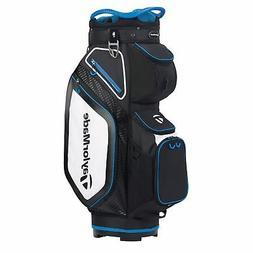 TaylorMade Mens Cart 8.0 Cart Golf Bag 2020 - Black/White/Bl