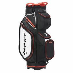 TaylorMade Mens Cart 8.0 Cart Golf Bag 2020 - Black/White/Re