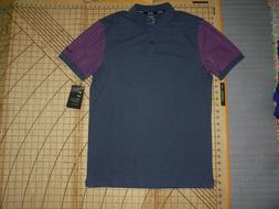 MENS SMALL GRAY/PINK ACCENTS NIKE GOLF POLO SHIRT - NWT