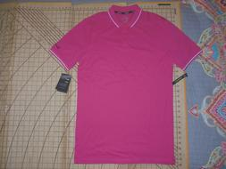 MENS SMALL TALL PINK/WHITE ACCENTS NIKE GOLF POLO SHIRT - NW