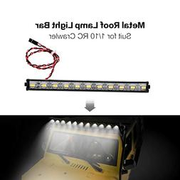 LtrottedJ Metal Roof Lamp LED 150mm Light Bar for 1/10 Traxx