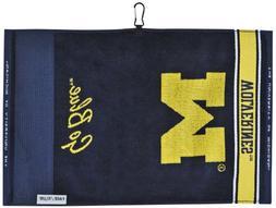 Team Effort Michigan Wolverines Face/Club Jacquard Towel