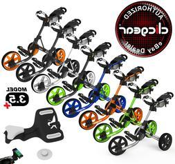 New Clicgear 3.5+ Golf Push Cart - Pick Your Color + Pick Yo