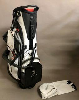 New Callaway Golf Aqua Dry Lite Stand Golf Bag White/Black/R
