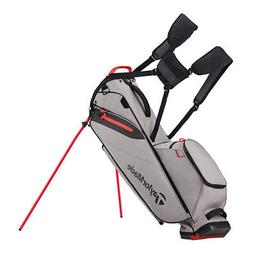 new flextech lite stand bag gray red
