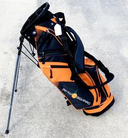 NEW Orange Whip Golf 4 Top Carry 2 Strap Stand Bag Orange /