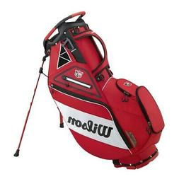 New Wilson Golf- Exo Tour Carry Bag Red/White
